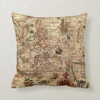 Old Sailing Throw Pillow
