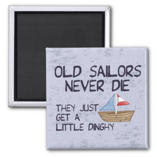 Old Sailors Square Magnet