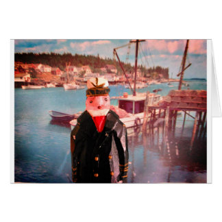 Old Salty at Boothbay Harbor Card