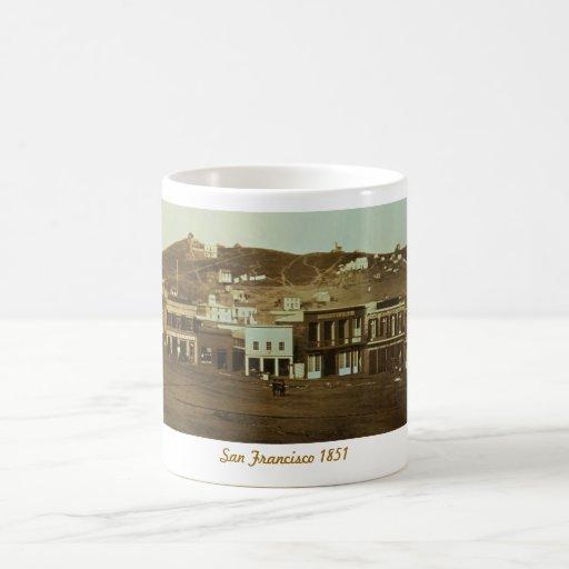 Old San Francisco Photo Gold Rush Basic White Mug