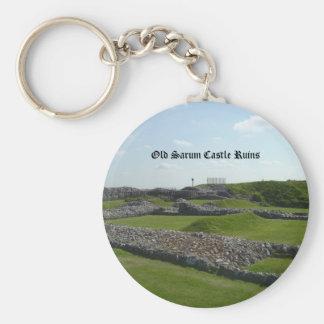 Old Sarum Castle Ruins Keychains