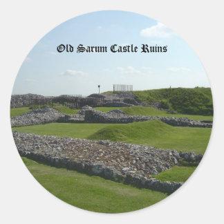 Old Sarum Castle Ruins Stickers