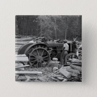 Old Sawmill Tractor, 1935 15 Cm Square Badge