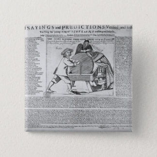 Old Sayings and Predictions 15 Cm Square Badge