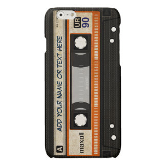 Old School 80s DJ Music Cassette Tape Pattern iPhone 6 Plus Case
