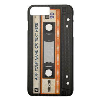 Old School 80s DJ Music Cassette Tape Pattern iPhone 8 Plus/7 Plus Case