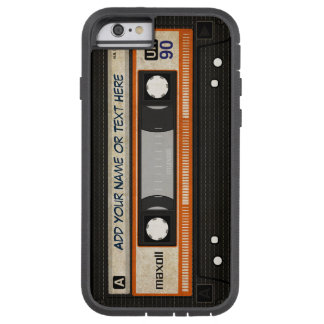 Old School 80s DJ Music Cassette Tape Pattern Tough Xtreme iPhone 6 Case