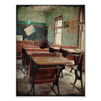 Old School, A One Room School Inside View Photo Print