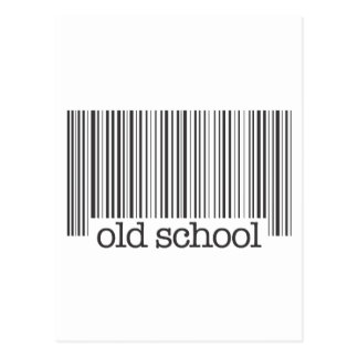 Old School Barcode Postcard