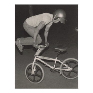 Old school BMX freestyle rider, 1986 Poster