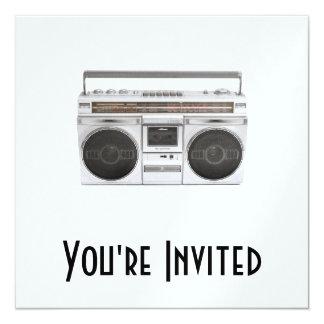 Old School Boombox Radio 13 Cm X 13 Cm Square Invitation Card