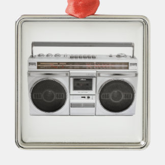 Old School Boombox Radio Christmas Ornament