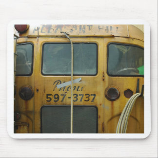 Old School Bus Mousepads