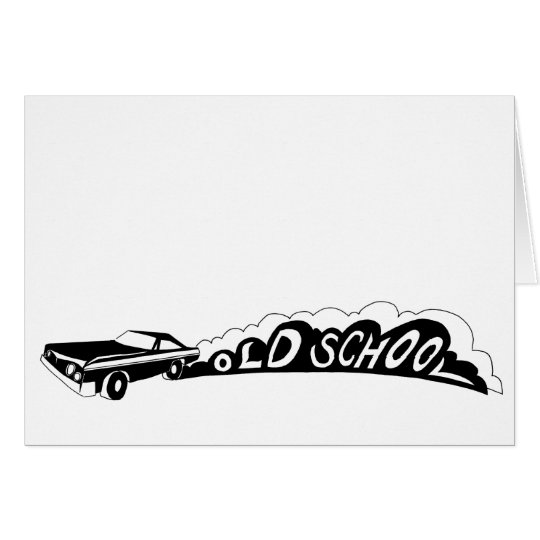 Old School Camaro - Greeting Cards - Blank Inside