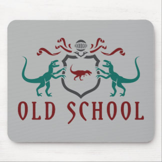 Old School Color Dinosaur Mouse Pad