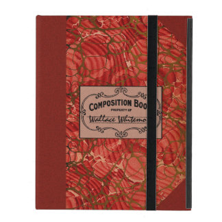 Old School Composition Notebook iPad Cases