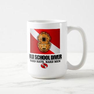 Old School Diver Basic White Mug
