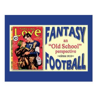Old School Fantasy Football Post Card