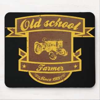 Old school farmer mouse pad