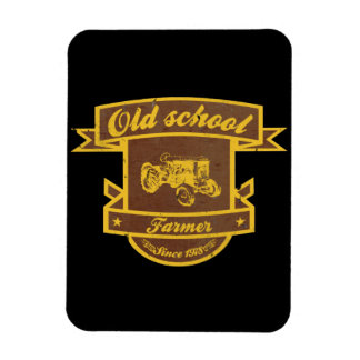 Old school farmer rectangular photo magnet