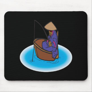 Old School Fishing 2 Mouse Pad