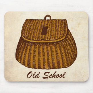 Old School Fishing Creel Mousepads