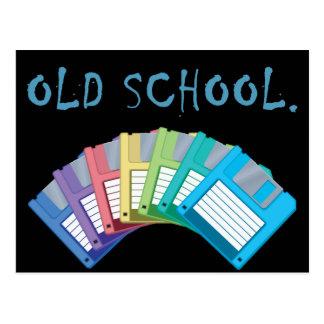 old school floppy disks postcard