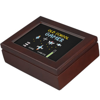 Old School Gamer - Stellarship - Keepsake Keepsake Box