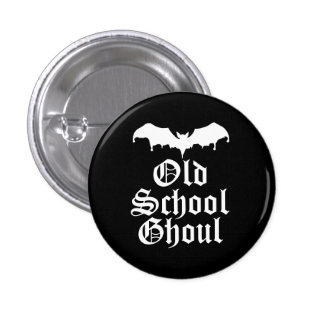 Old School Ghoul Goth Bat 3 Cm Round Badge