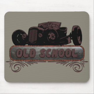 Old School Hot Rod Mouse Pads