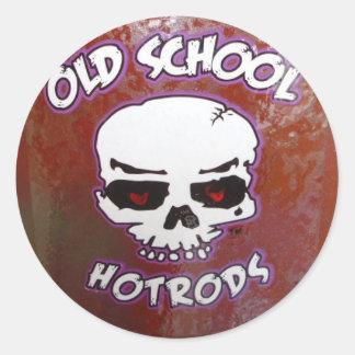 Old School Hot Rods Round Sticker