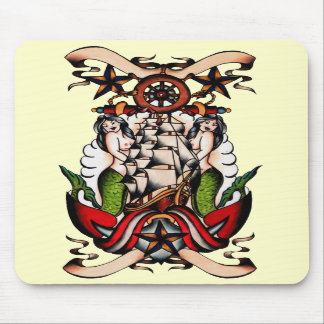 Old School Maritime Mouspad Mouse Pads