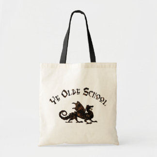Old School - Medieval Dragon King Arthur Knights Budget Tote Bag