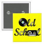 Old School Music Media Square (Yellow) Button