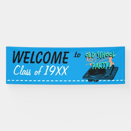 Old School Party and Class Customisable Banner