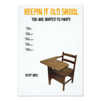 Old School Party Card