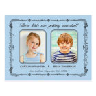 Old School Photos Save the Date Postcard | Blue