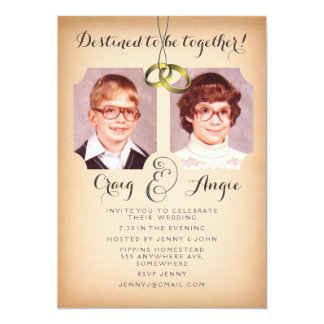 Old School Photos Wedding Photo Invite