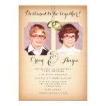 "Old School Photos Wedding Photo Invite 5"" X 7"" Invitation Card"