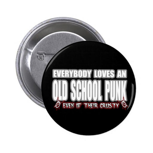 OLD SCHOOL PUNK ROCK PINBACK BUTTONS