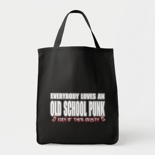 OLD SCHOOL PUNK ROCK guy girl crusty punks Tote Bags