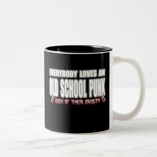 OLD SCHOOL PUNK ROCK guy girl crusty punks Coffee Mug