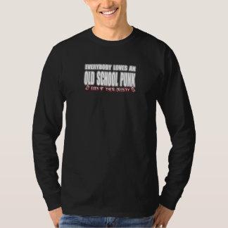OLD SCHOOL PUNK ROCK guy girl crusty punks Tshirt