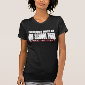 OLD SCHOOL PUNK ROCK guy girl crusty punks Tshirt