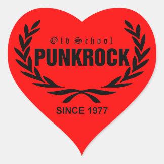 Old School punk rock Heart Sticker