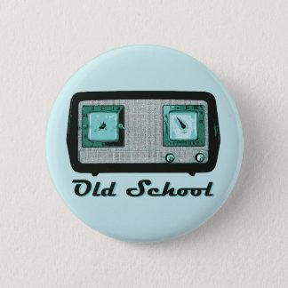 Old School Radio Retro Vintage 6 Cm Round Badge