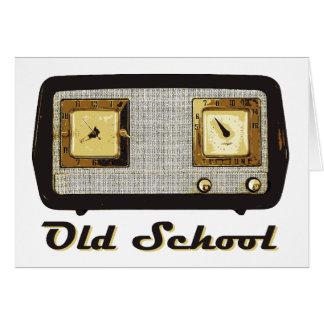 Old School Radio Retro Vintage Greeting Card