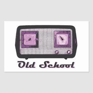 Old School Radio Retro Vintage Rectangular Sticker