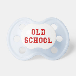 Old School Red Stencil Vintage Retro 80s Baby Pacifiers