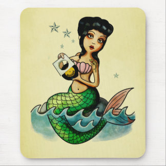 Old School Reggae Mermaid Mouse Pads
